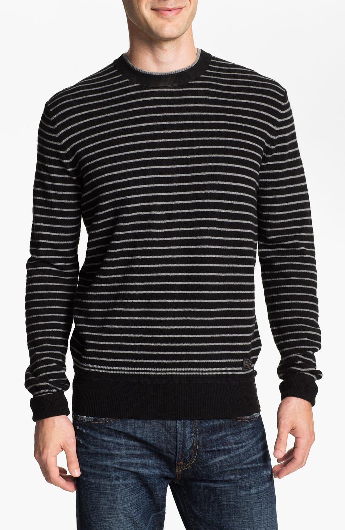 Alternate Image 1 Selected - Ben Sherman Stripe Crewneck Sweater