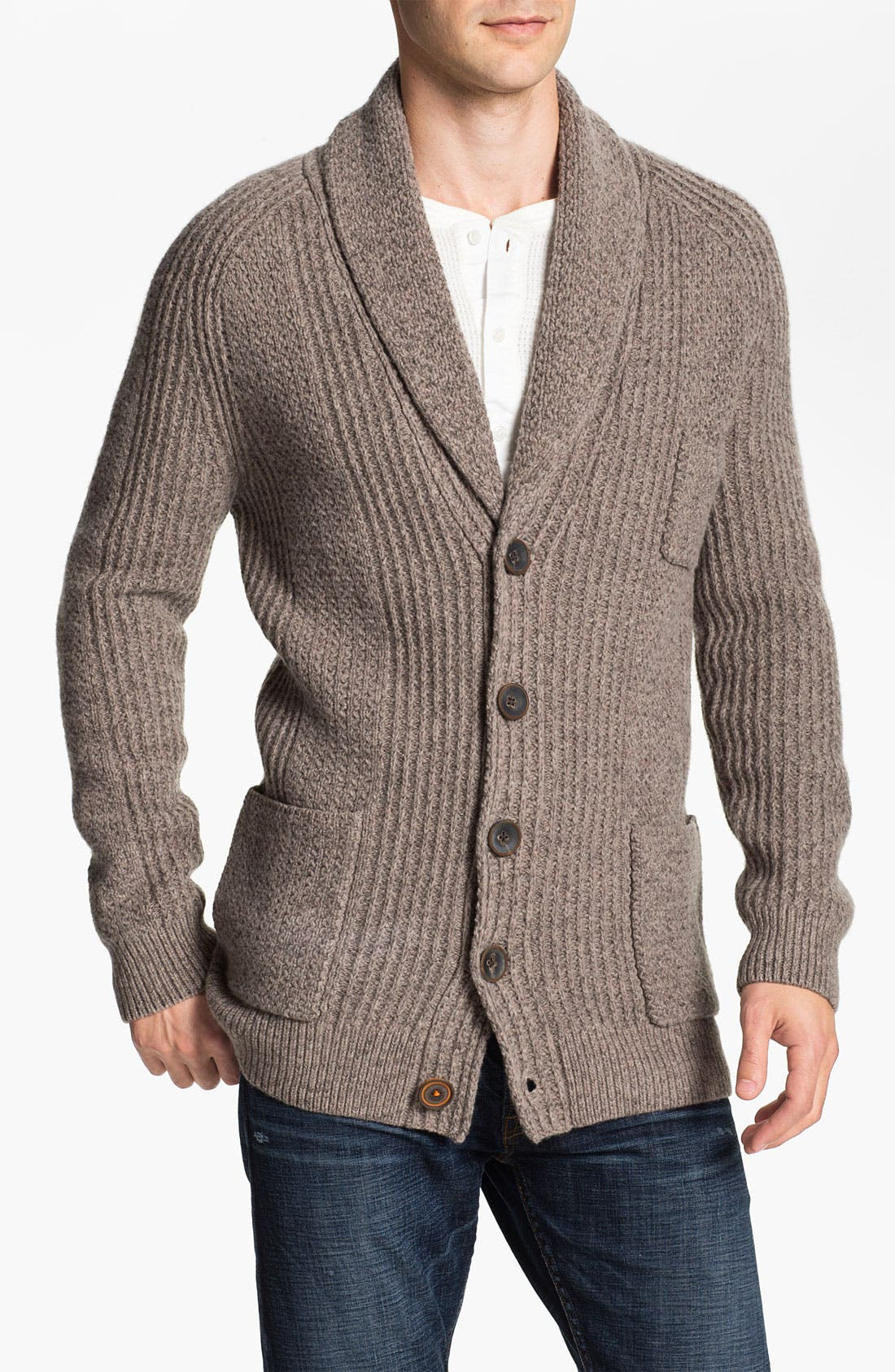Alternate Image 1 Selected - BOSS Orange Wool Blend Shawl Cardigan