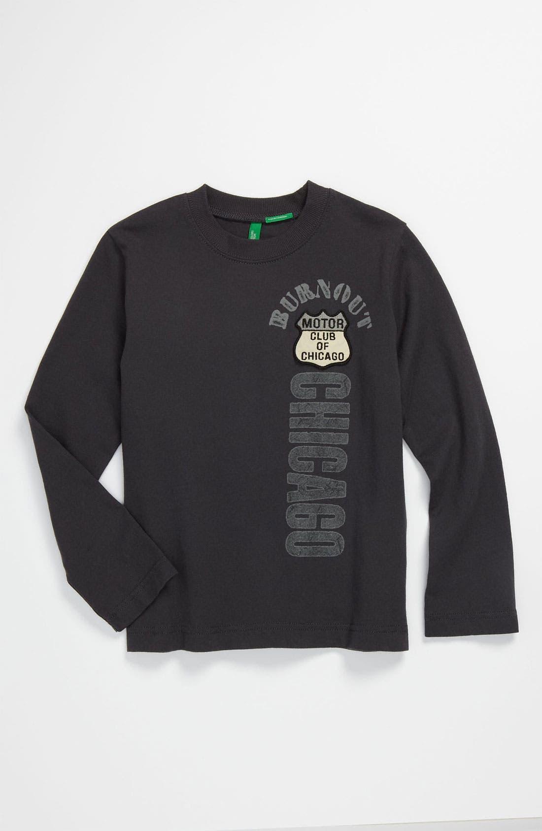 Main Image - United Colors of Benetton Kids Long Sleeve T-Shirt (Little Boys & Big Boys)