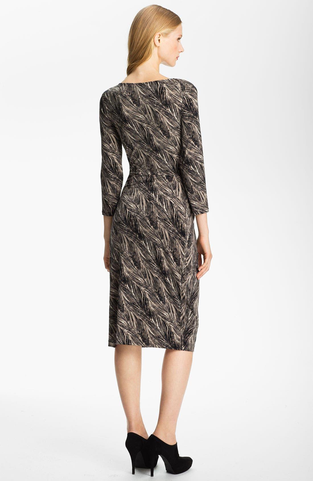 Alternate Image 2  - Anne Klein Feather Print Dress (Petite)
