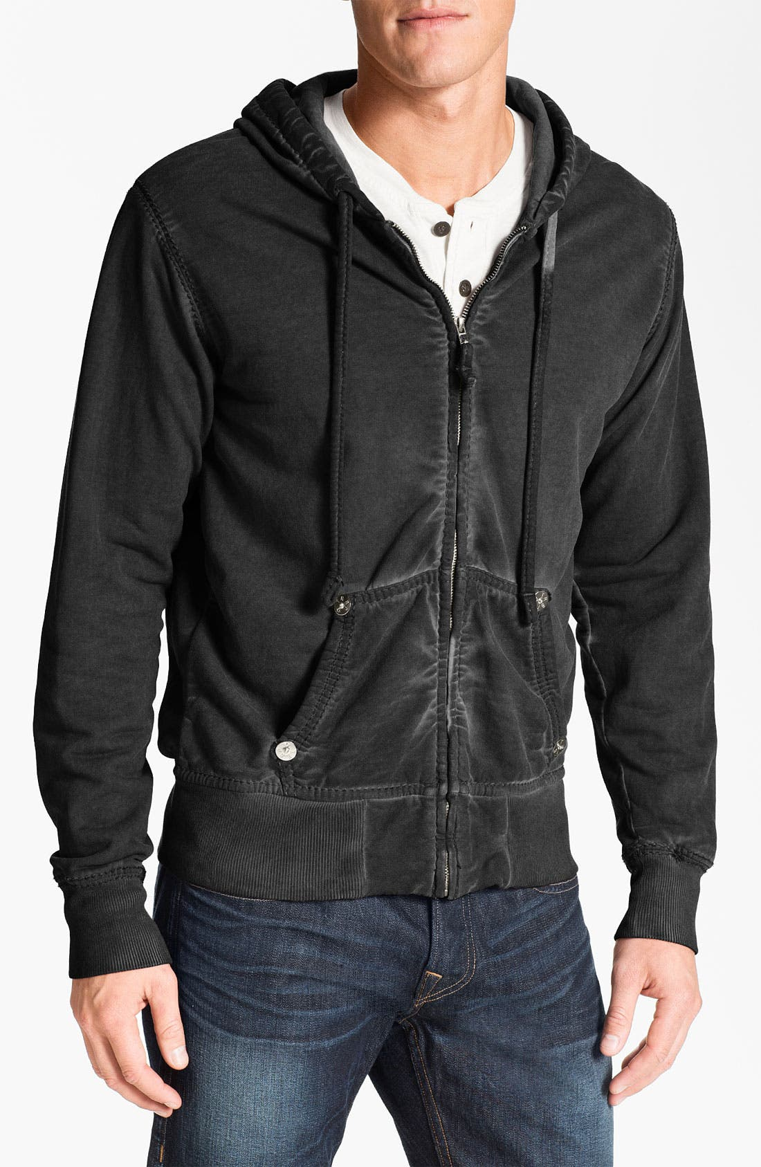 Alternate Image 1 Selected - True Religion Brand Jeans Fleece Hoodie