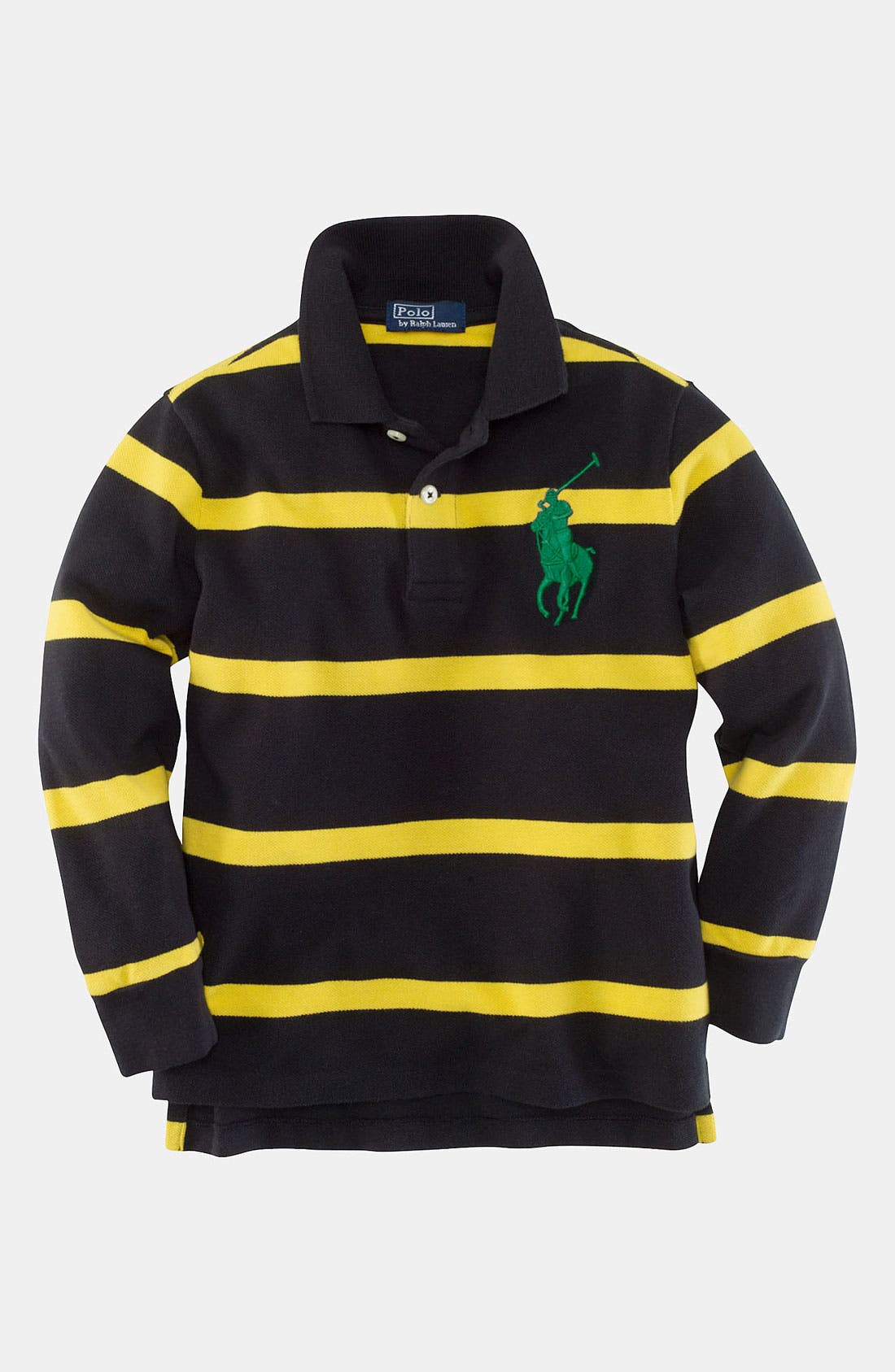 Main Image - Ralph Lauren Long Sleeve Polo (Toddler)