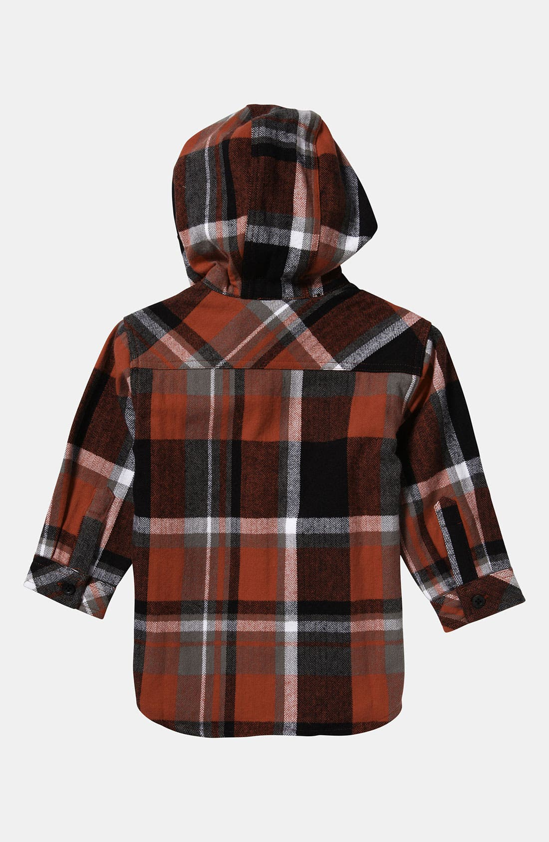 Alternate Image 2  - Quiksilver 'Four Short' Hooded Flannel Shirt (Infant)