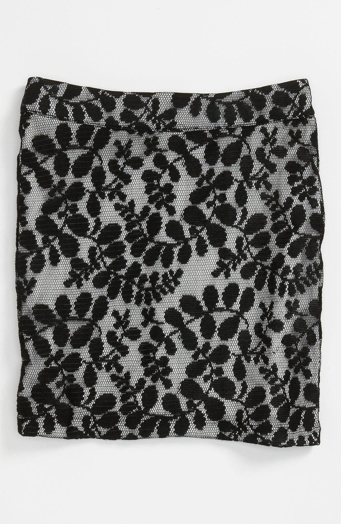 Main Image - Un Deux Trois 'Mini' Lace Skirt (Big Girls)