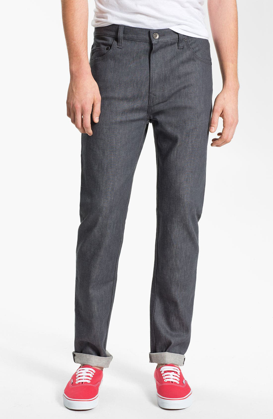 Alternate Image 2  - WeSC 'Eddy' Slim Fit Jeans (Raw Grey)