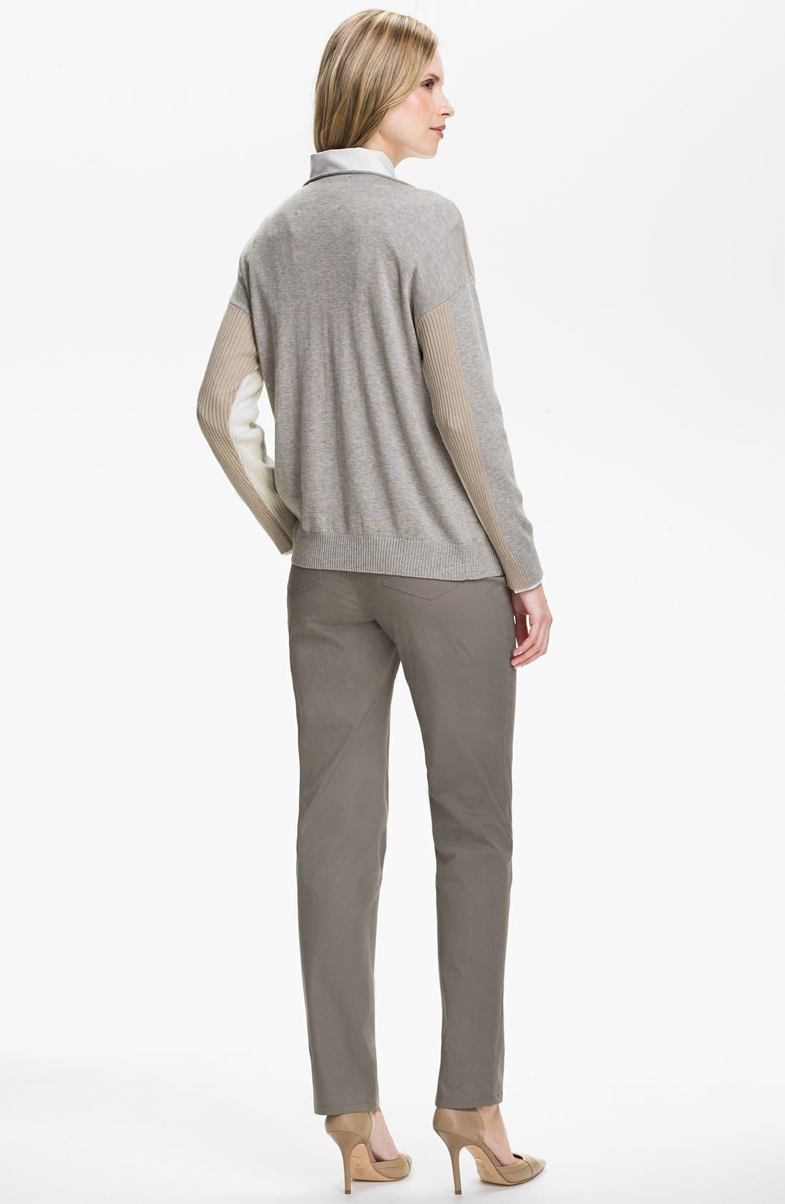 Alternate Image 5  - Lafayette 148 New York Intarsia Colorblock Sweater