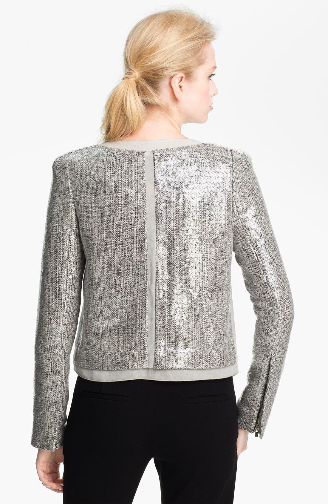 Alternate Image 2  - Diane von Furstenberg 'Tamli' Sequin Crop Jacket