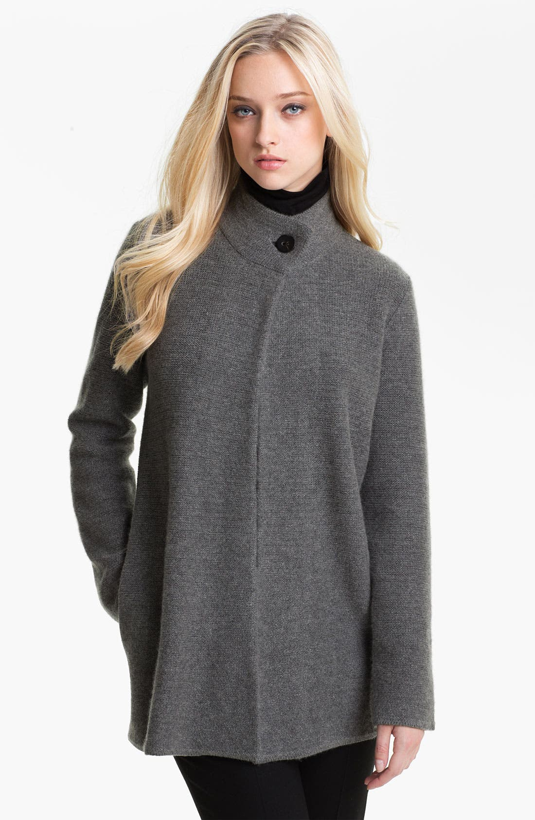 Alternate Image 1 Selected - Nordstrom Collection One Button Cashmere Cardigan