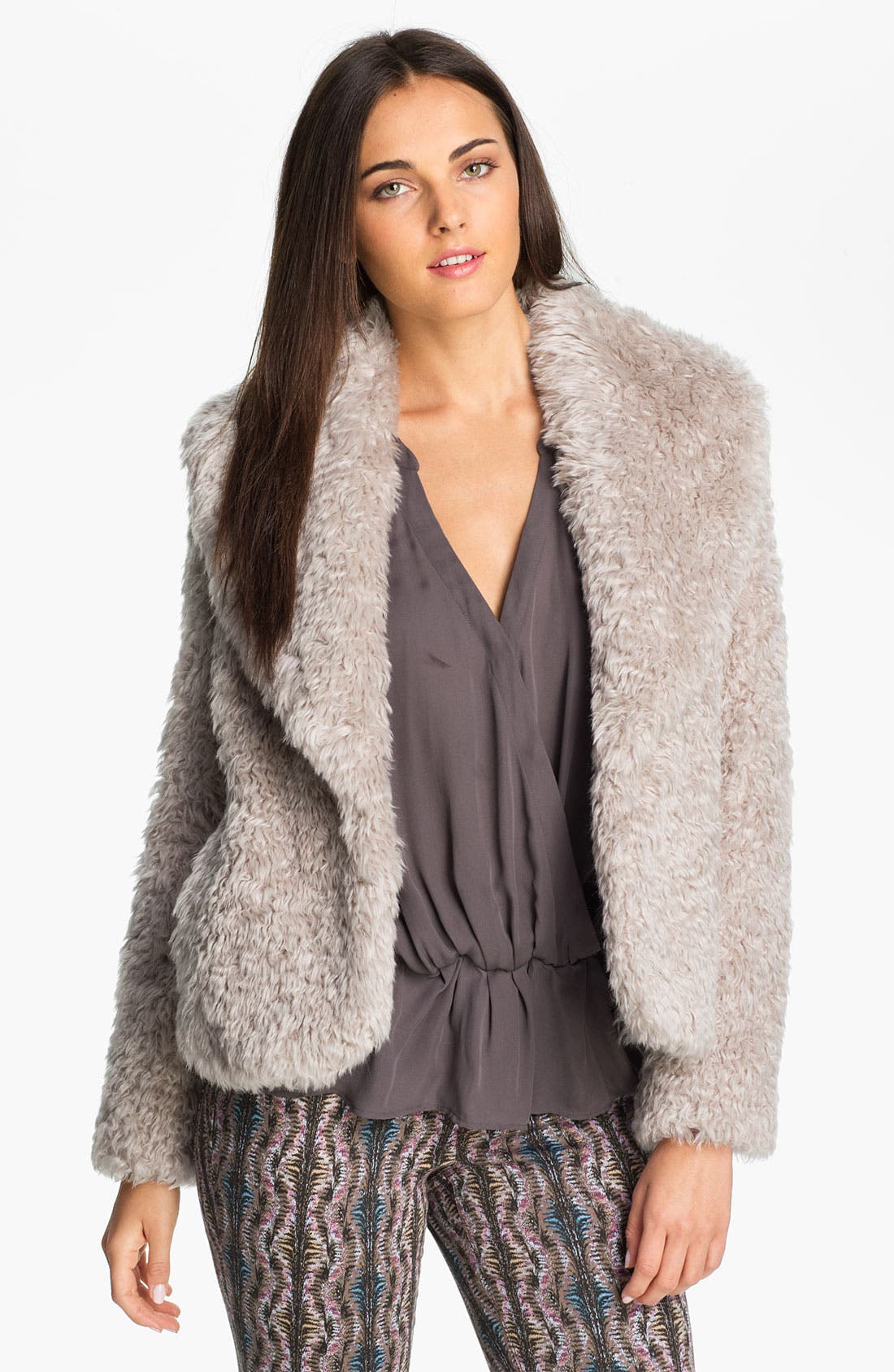 Alternate Image 1 Selected - Laundry by Shelli Segal 'Oslo' Faux Fur Jacket