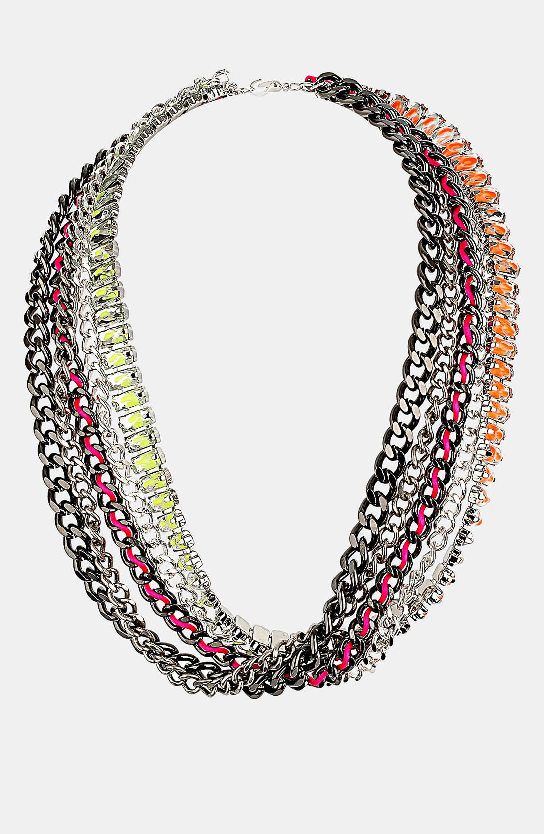 Alternate Image 1 Selected - Topshop Multi Chain Necklace
