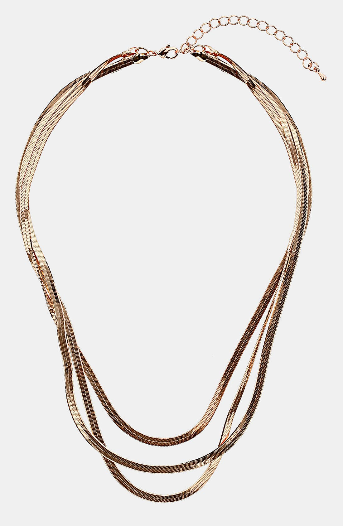 Main Image - Topshop 'Multi Snake Chain' Necklace