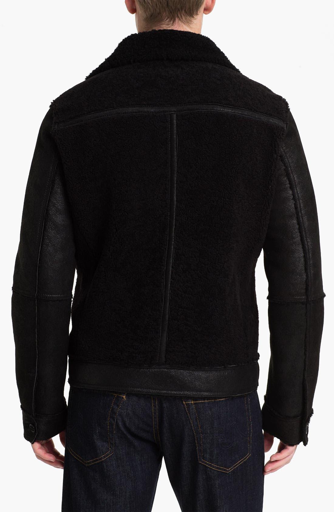 Alternate Image 2  - Michael Kors Shearling Racer Jacket