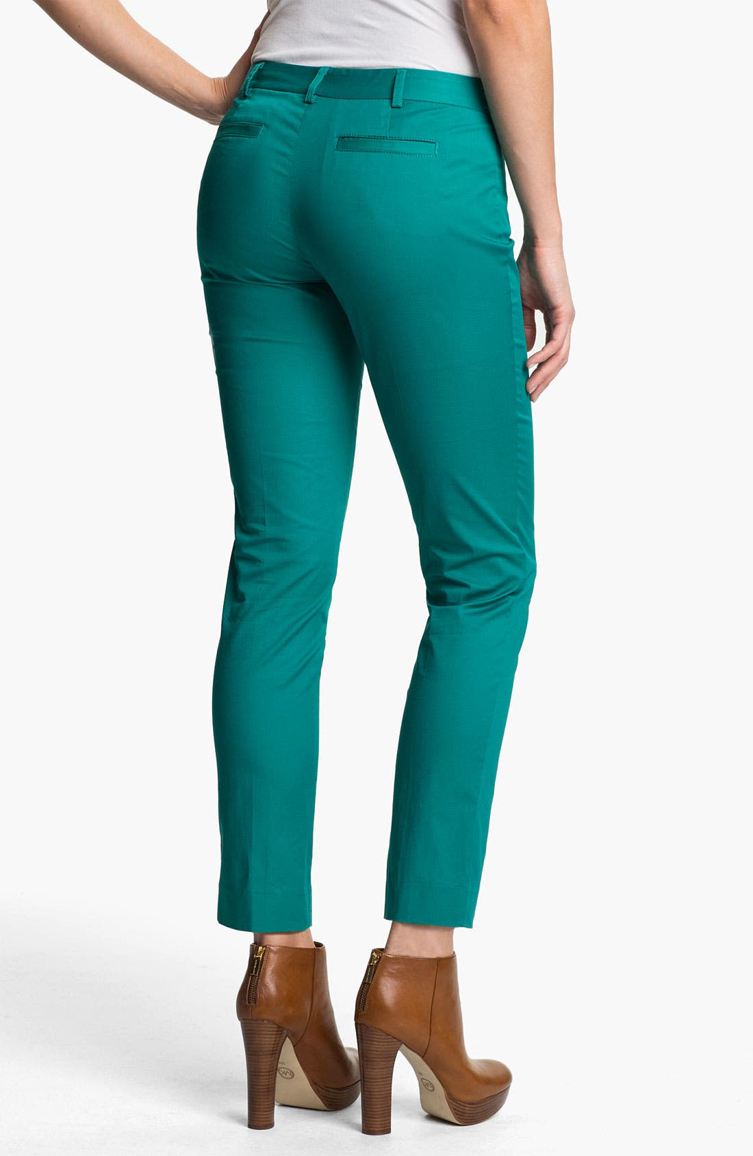 Alternate Image 2  - MICHAEL Michael Kors Zip Pocket Ankle Pants (Petite)