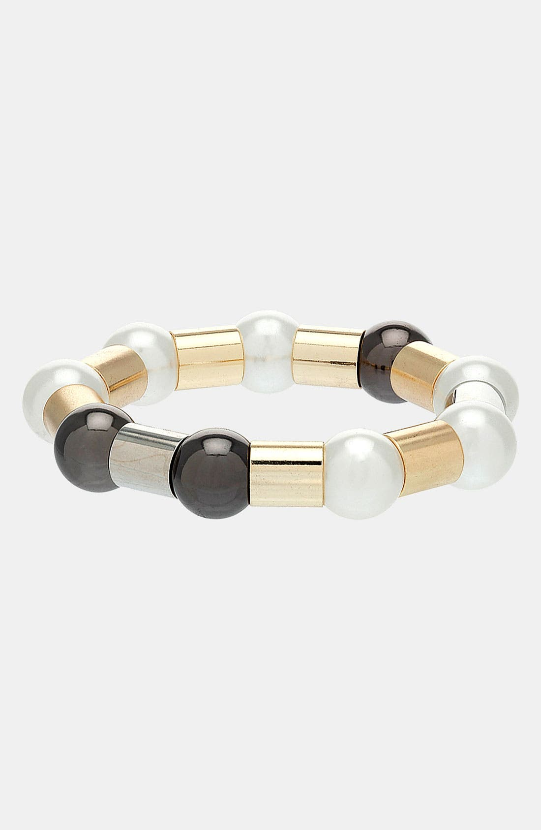 Main Image - Topshop 'Ball & Tube' Stretch Bracelet