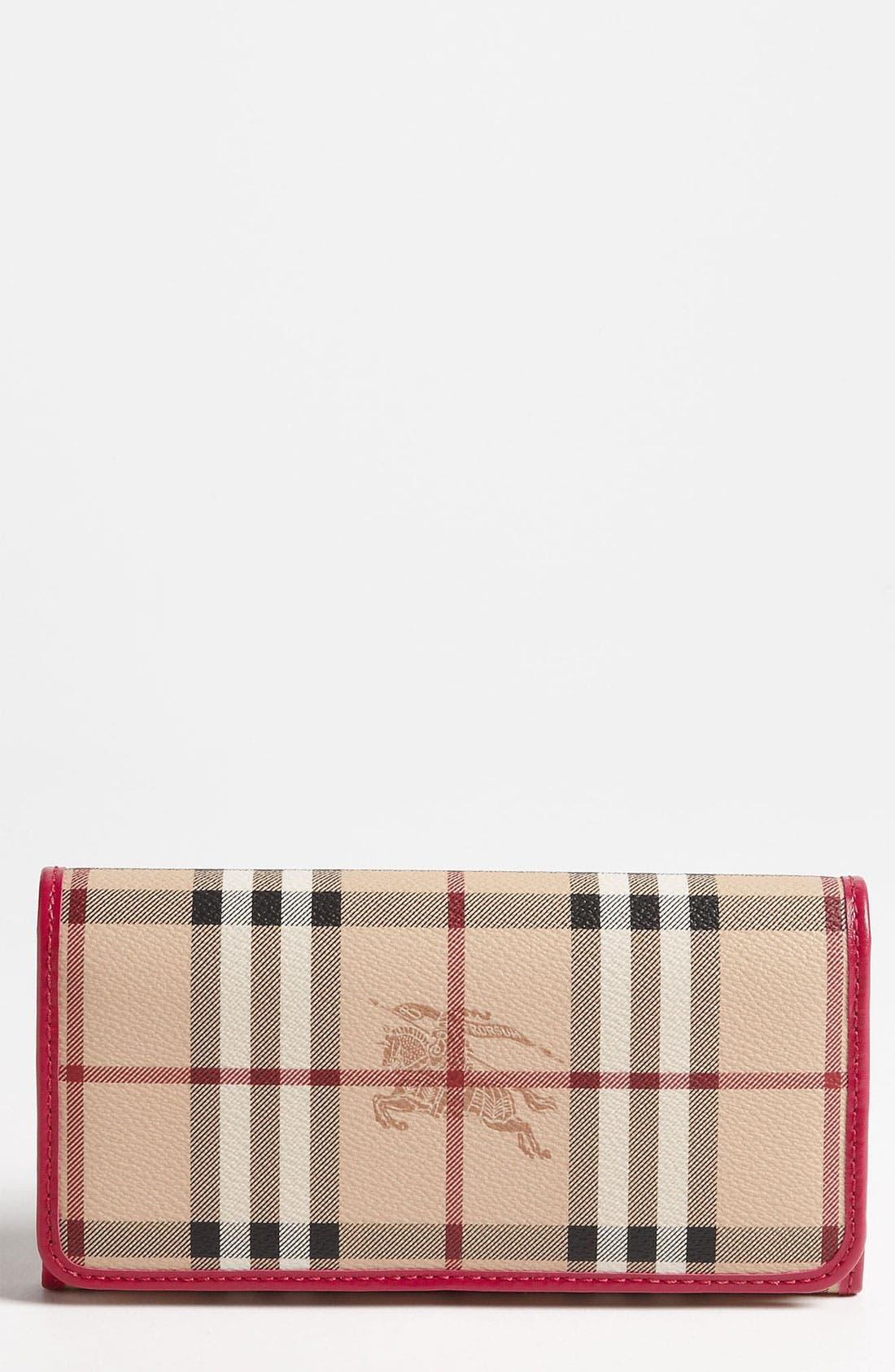 Alternate Image 1 Selected - Burberry 'Haymarket Check' Flap Wallet