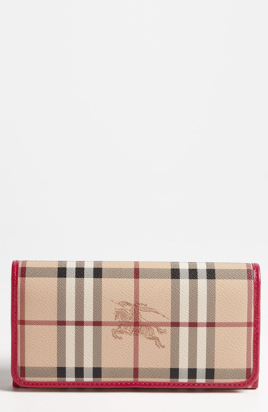 Main Image - Burberry 'Haymarket Check' Flap Wallet