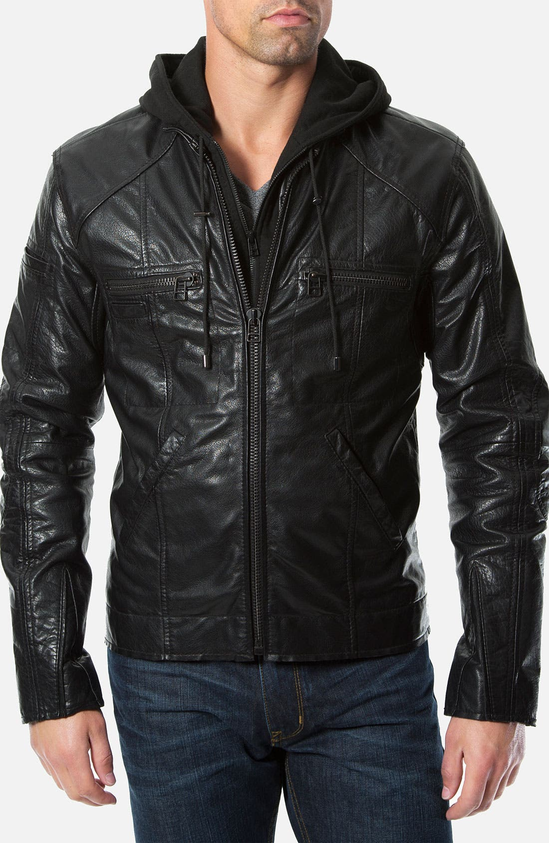 Alternate Image 1 Selected - 7 Diamonds 'Tokyo' Leather Jacket