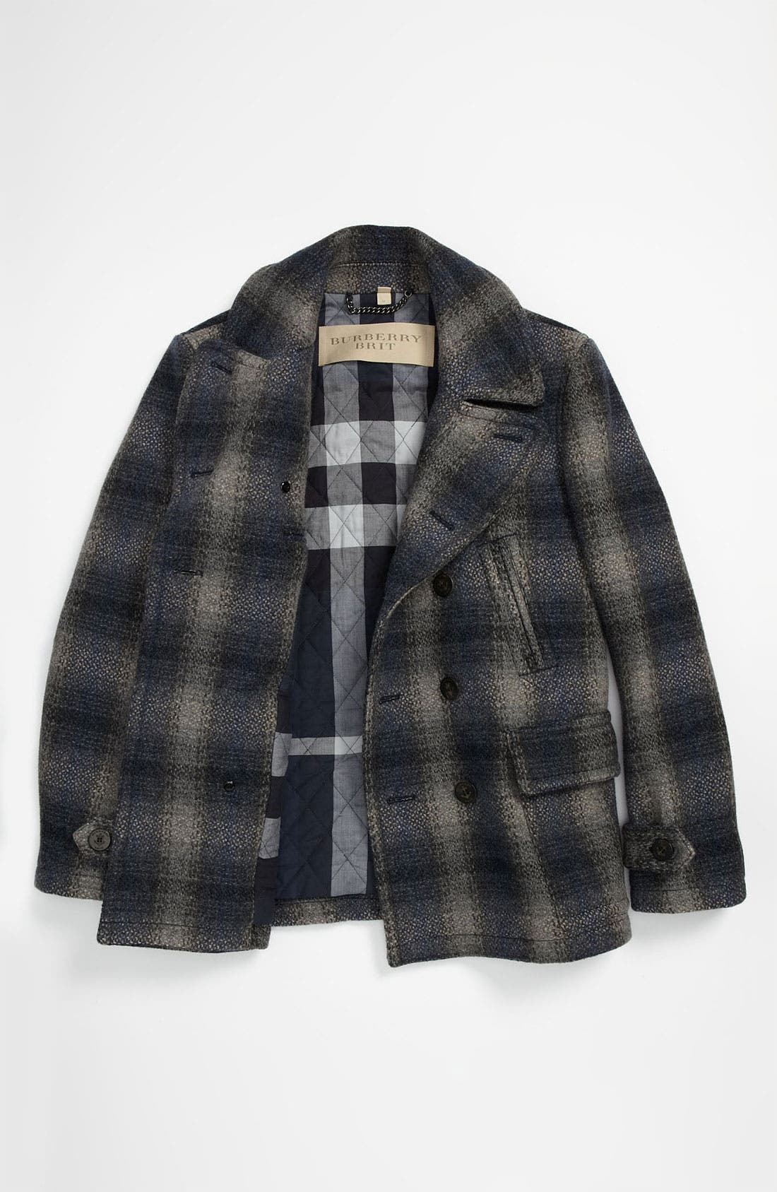 Alternate Image 5  - Burberry Brit Double Breasted Wool Blend Coat