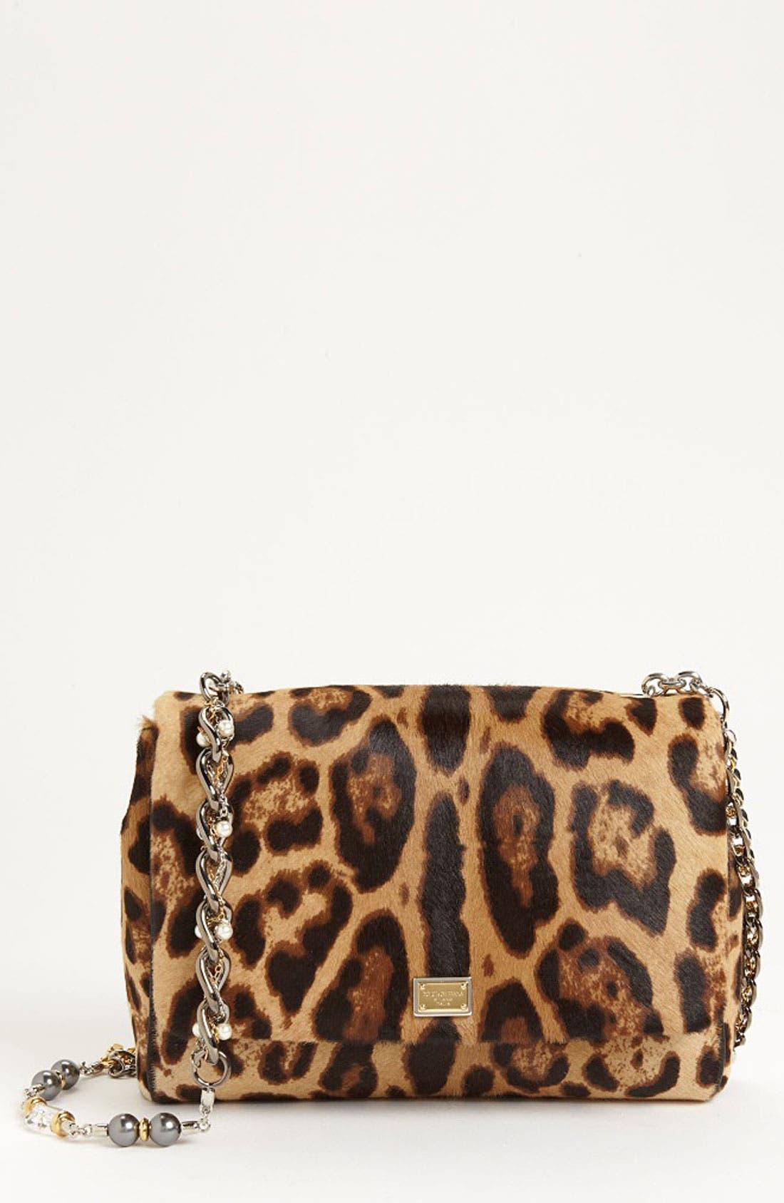 Main Image - Dolce&Gabbana 'Miss Charles' Calf Hair Shoulder Bag