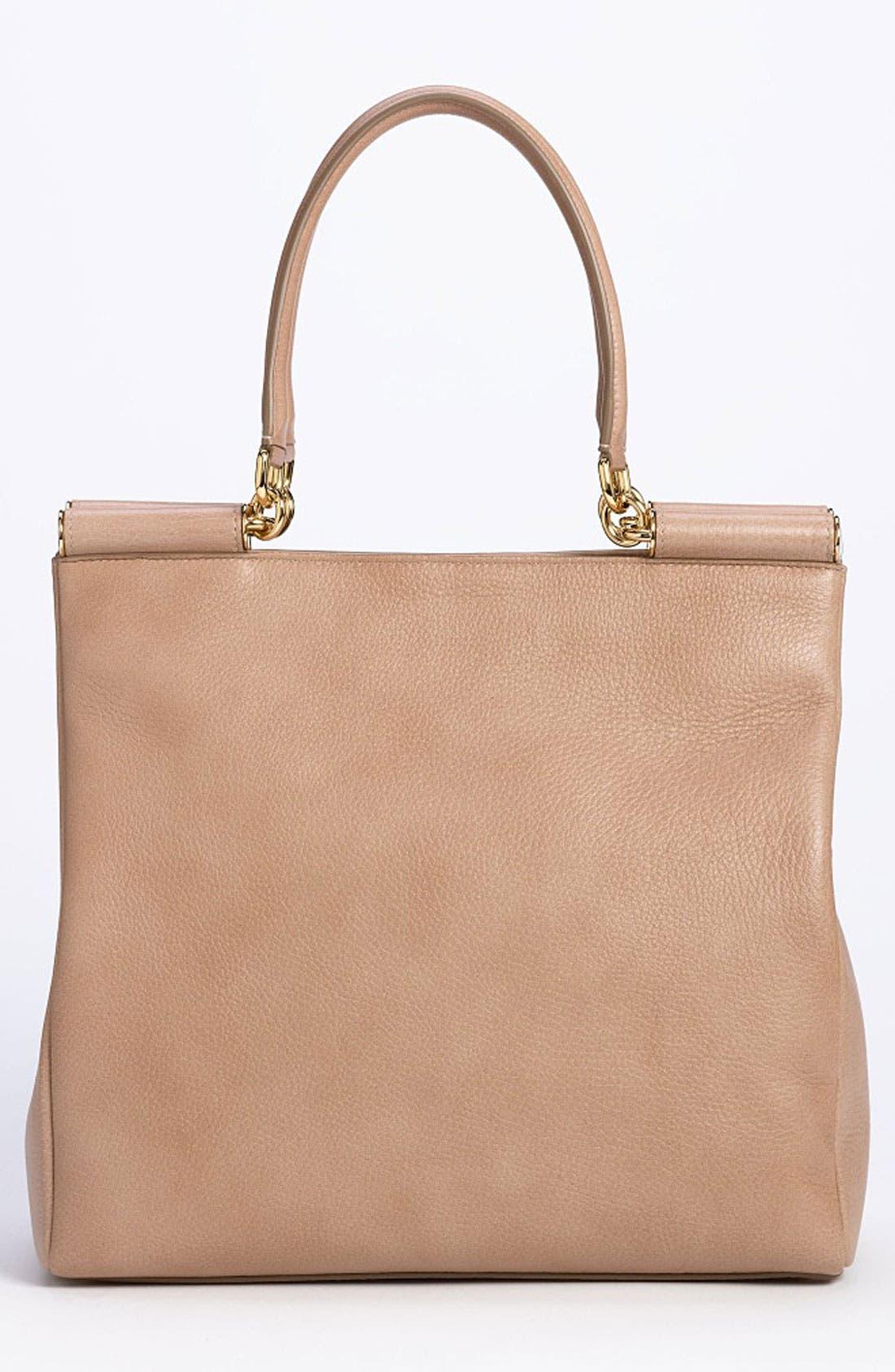 Alternate Image 4  - Dolce&Gabbana 'Miss Sicily' Leather Shopper