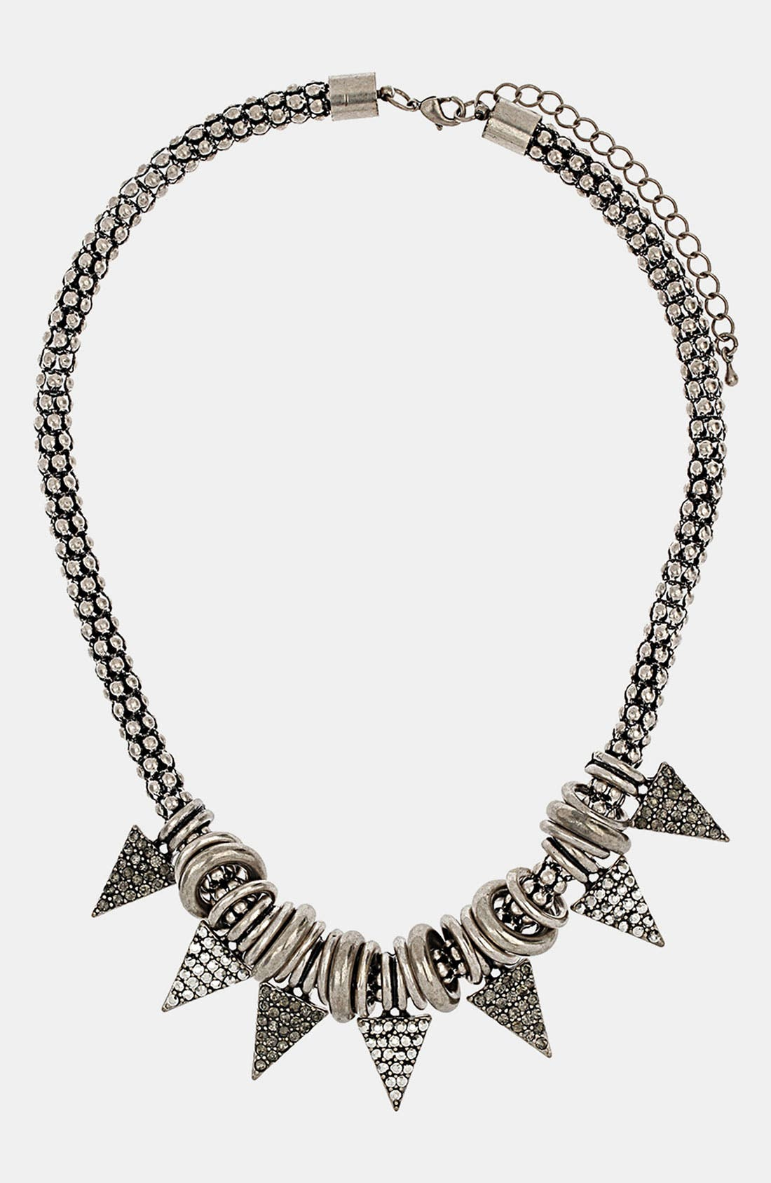 Main Image - Topshop Metal Triangle Collar Necklace