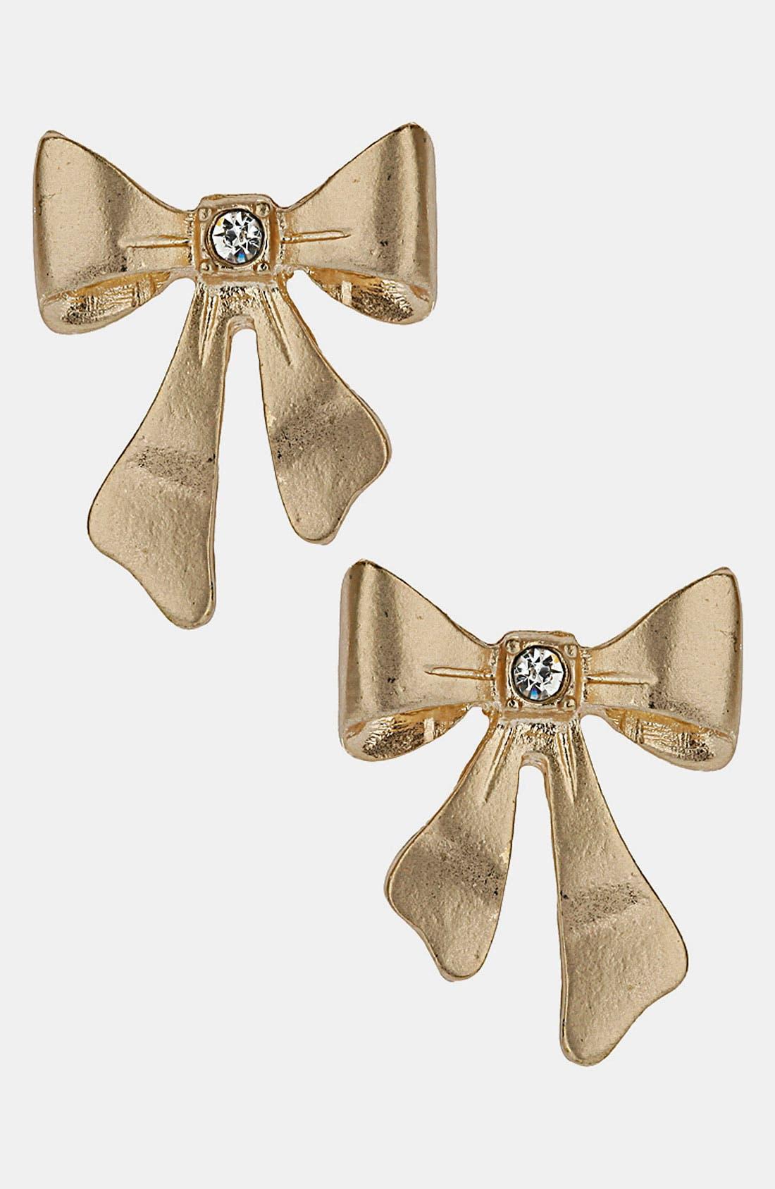 Alternate Image 1 Selected - Topshop Bow Stud Earrings