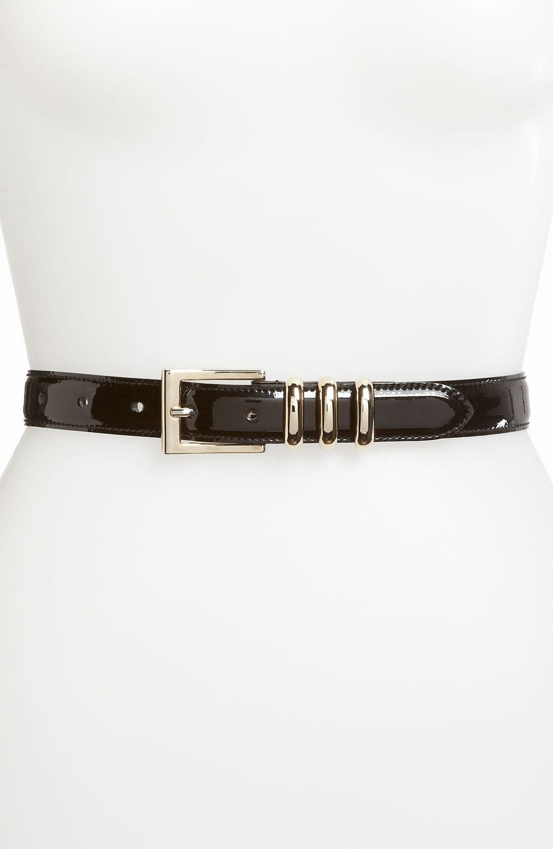 Alternate Image 1 Selected - St. John Collection Patent Leather Belt