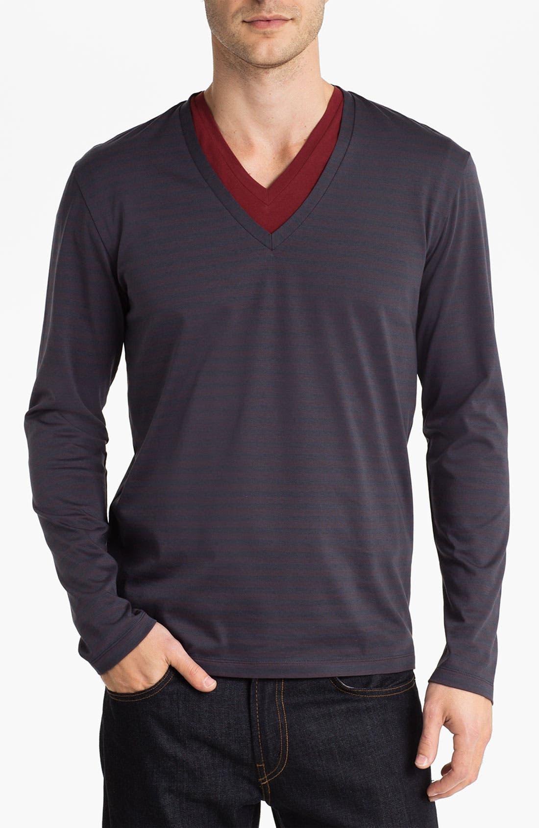 Alternate Image 1 Selected - HUGO 'Dridon' V-Neck T-Shirt