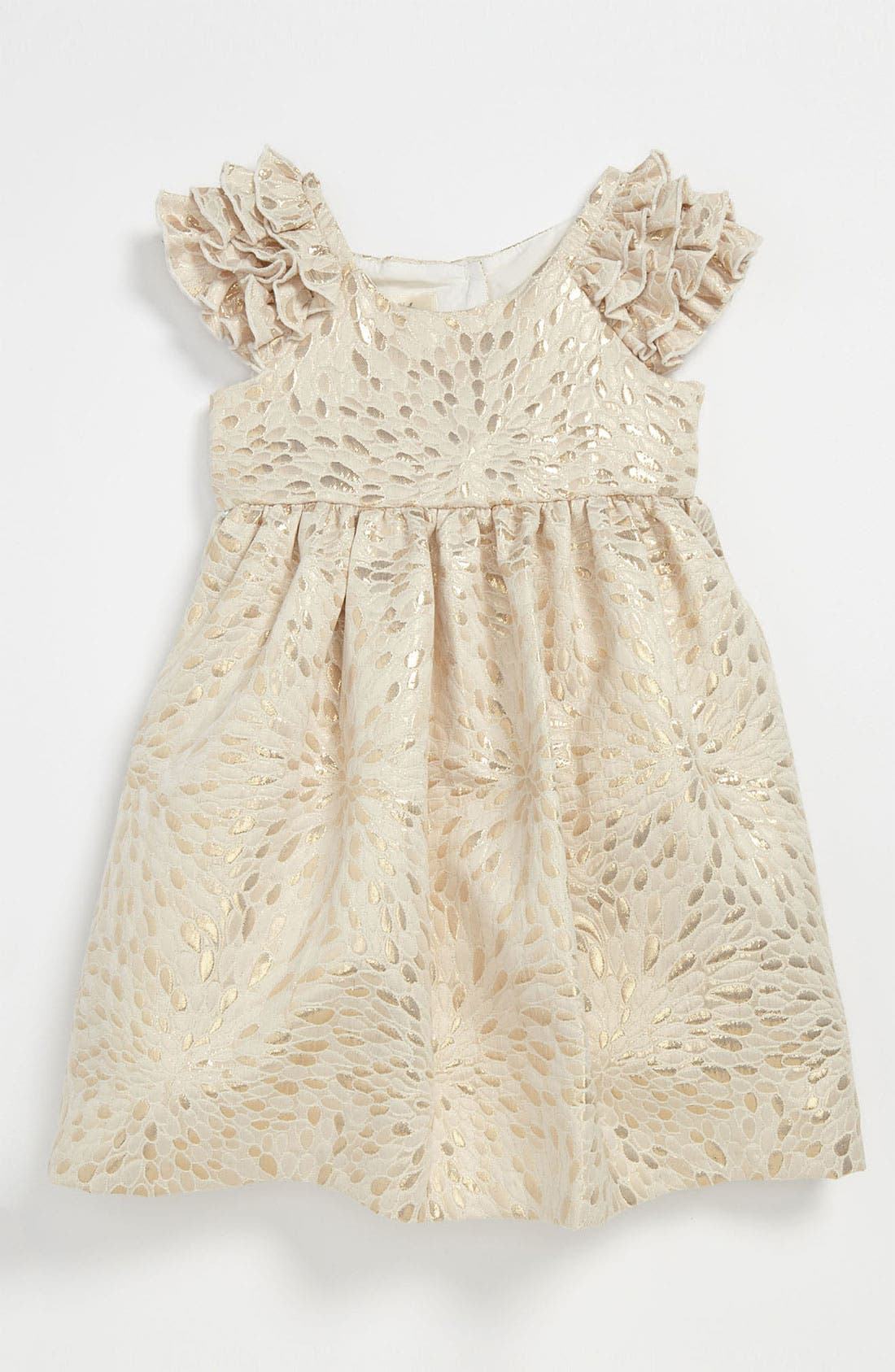 Alternate Image 1 Selected - Laura Ashley Brocade Dress (Toddler)