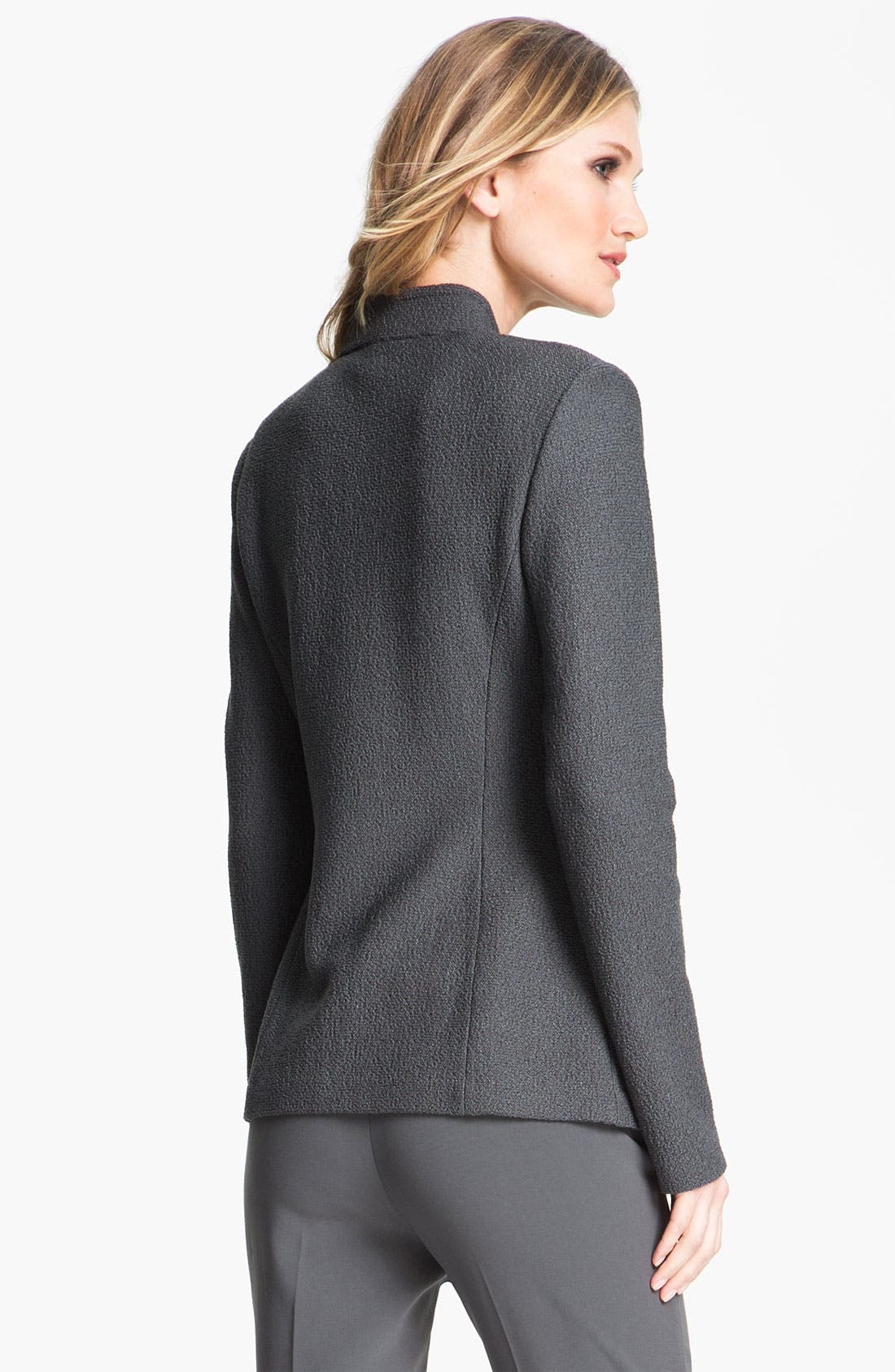 Alternate Image 3  - St. John Collection Crepe Insert Bouclé Knit Jacket
