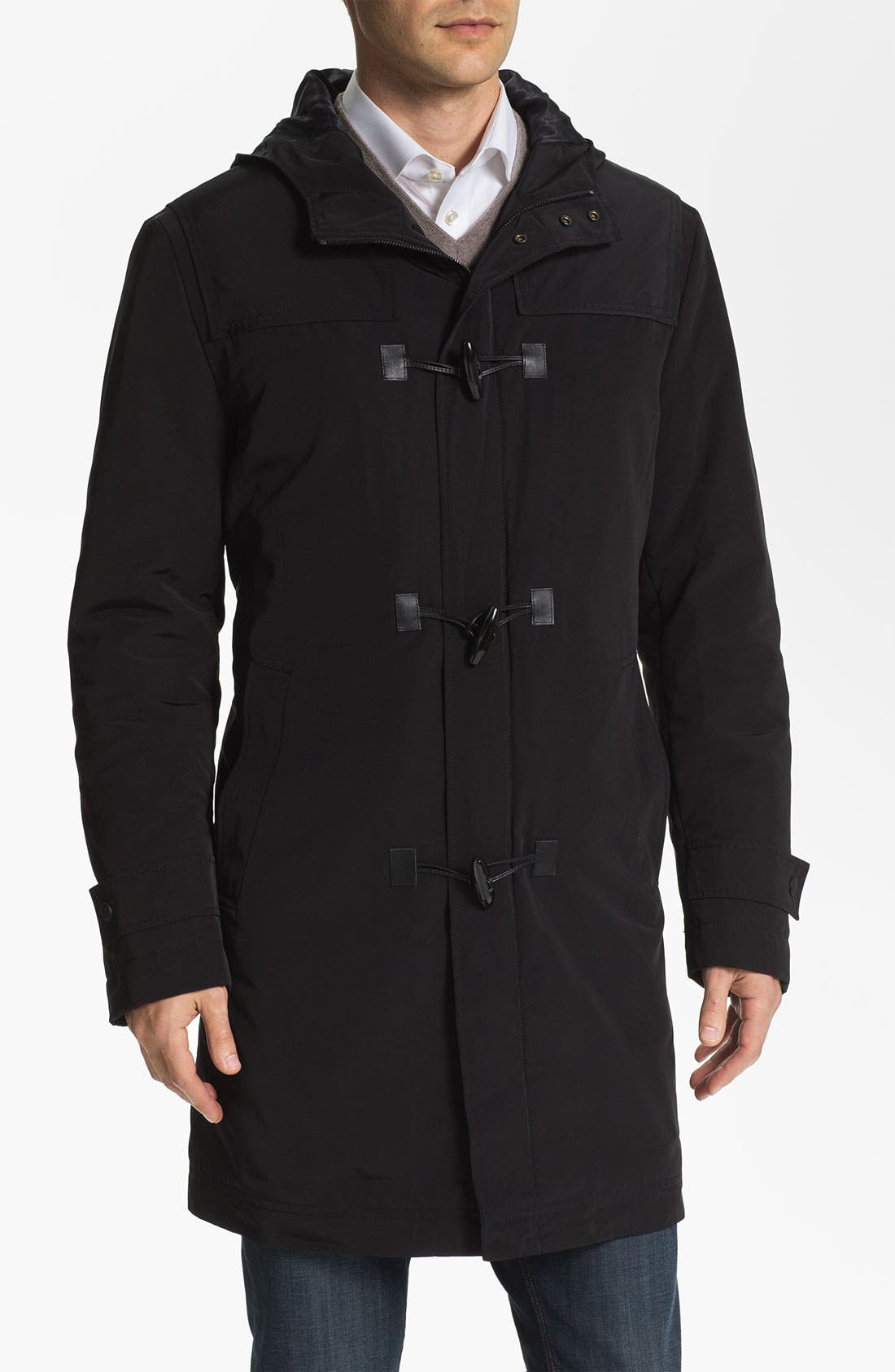 Alternate Image 1 Selected - BOSS Black 'Glade' Wrinkle Resistant Duffle Coat