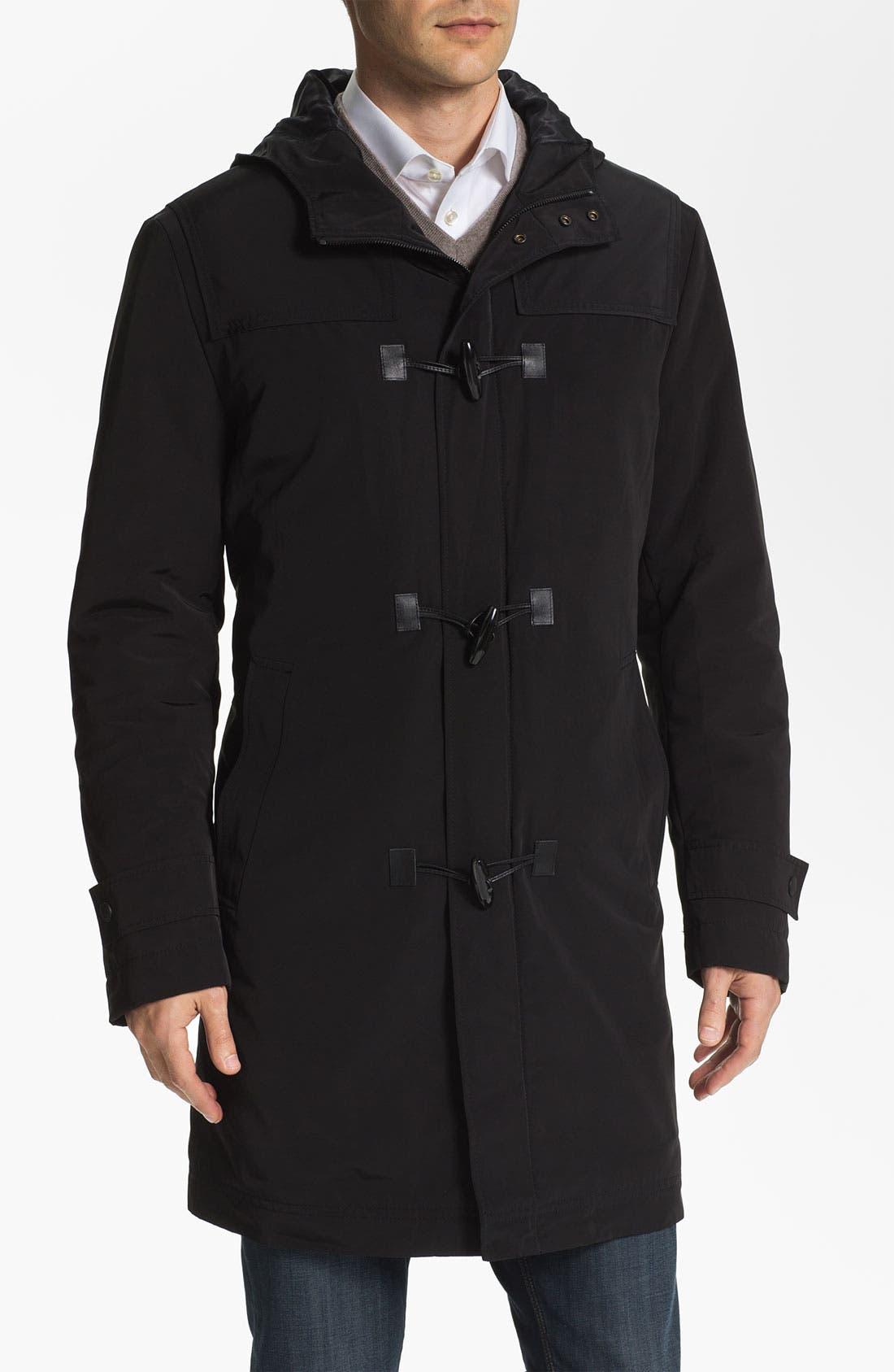 Main Image - BOSS Black 'Glade' Wrinkle Resistant Duffle Coat