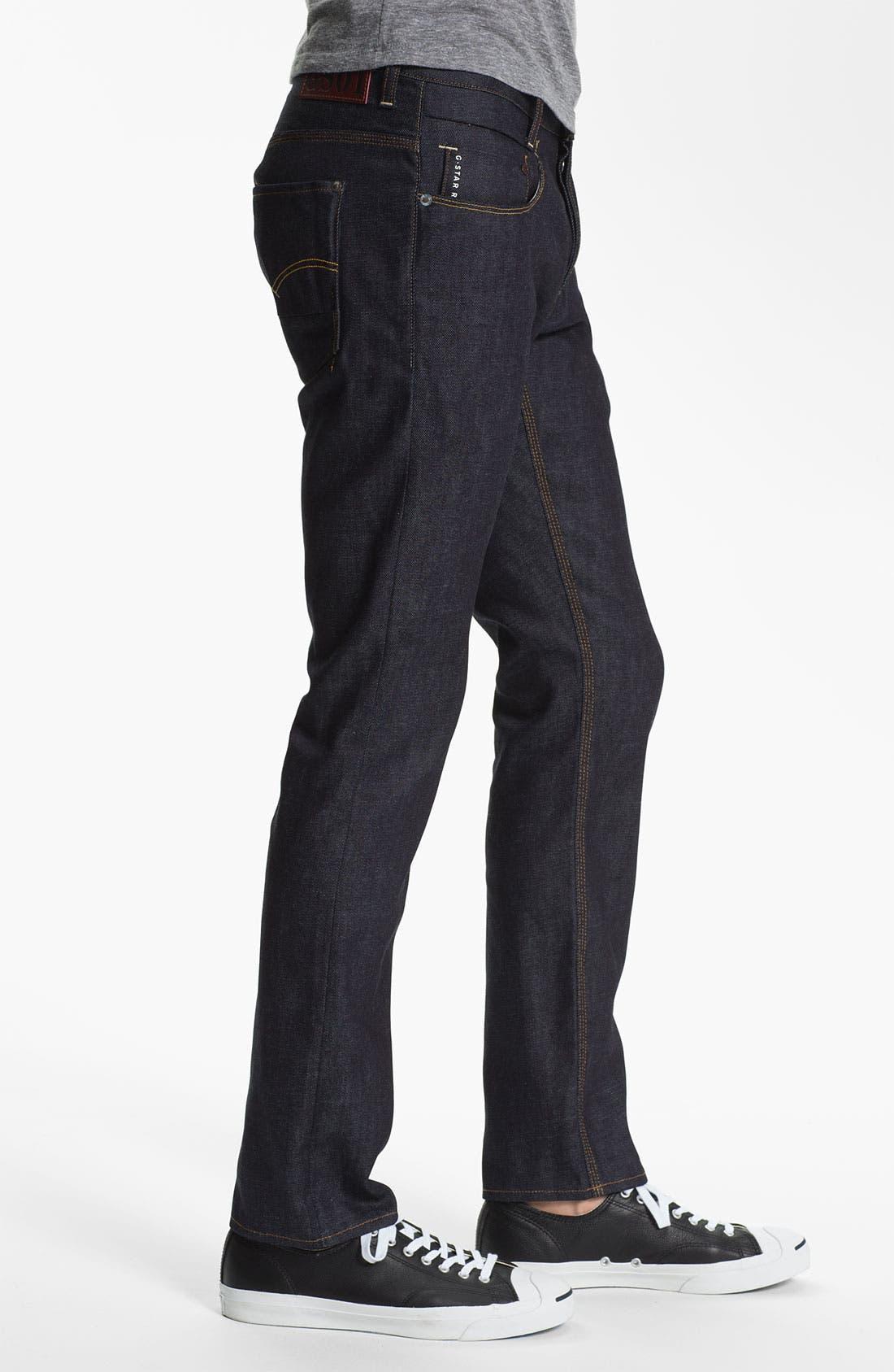Alternate Image 3  - G-Star Raw 'New Radar' Slim Straight Leg Jeans (Rigid Raw)