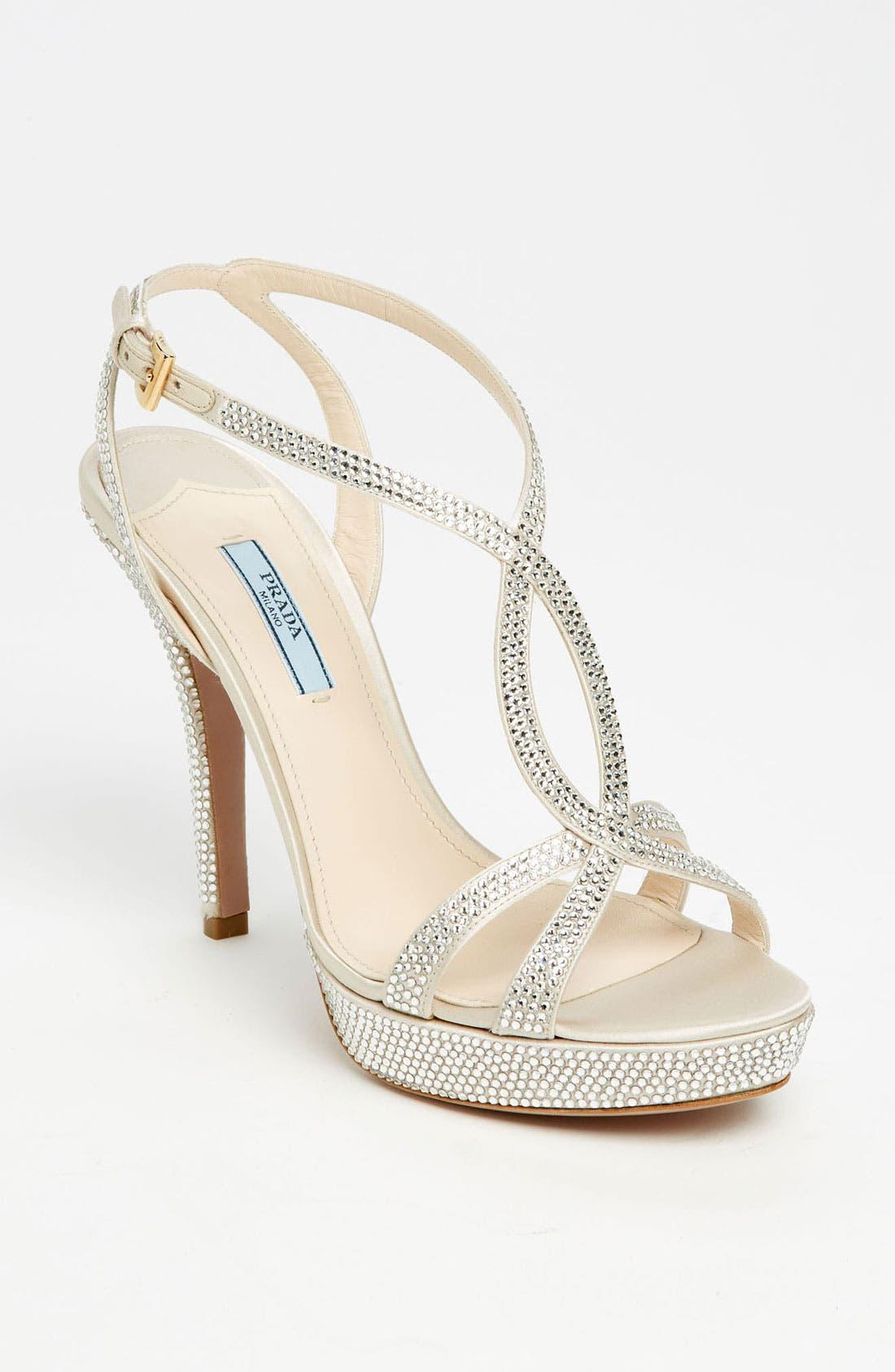 Main Image - Prada Crystal Platform Sandal
