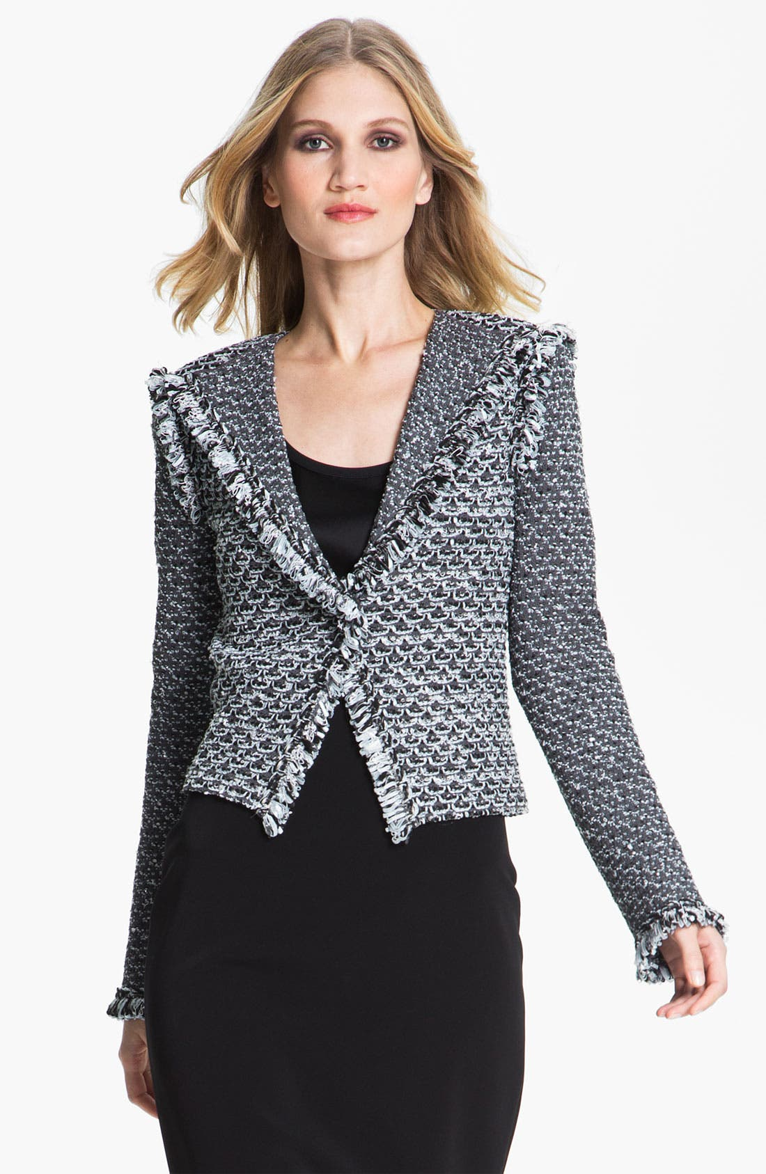 Alternate Image 2  - St. John Collection Fringe Trim Tweed Jacket