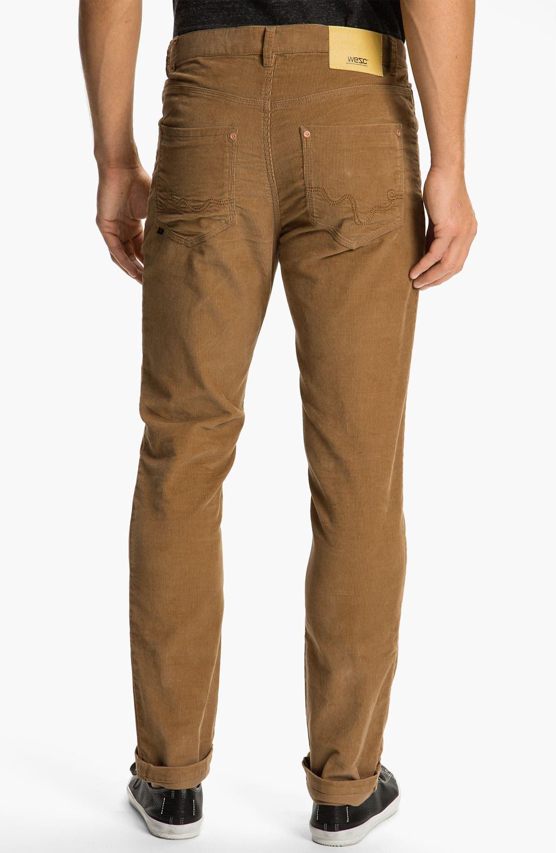 Alternate Image 1 Selected - WeSC 'Eddy' Slim Fit Corduroy Pants