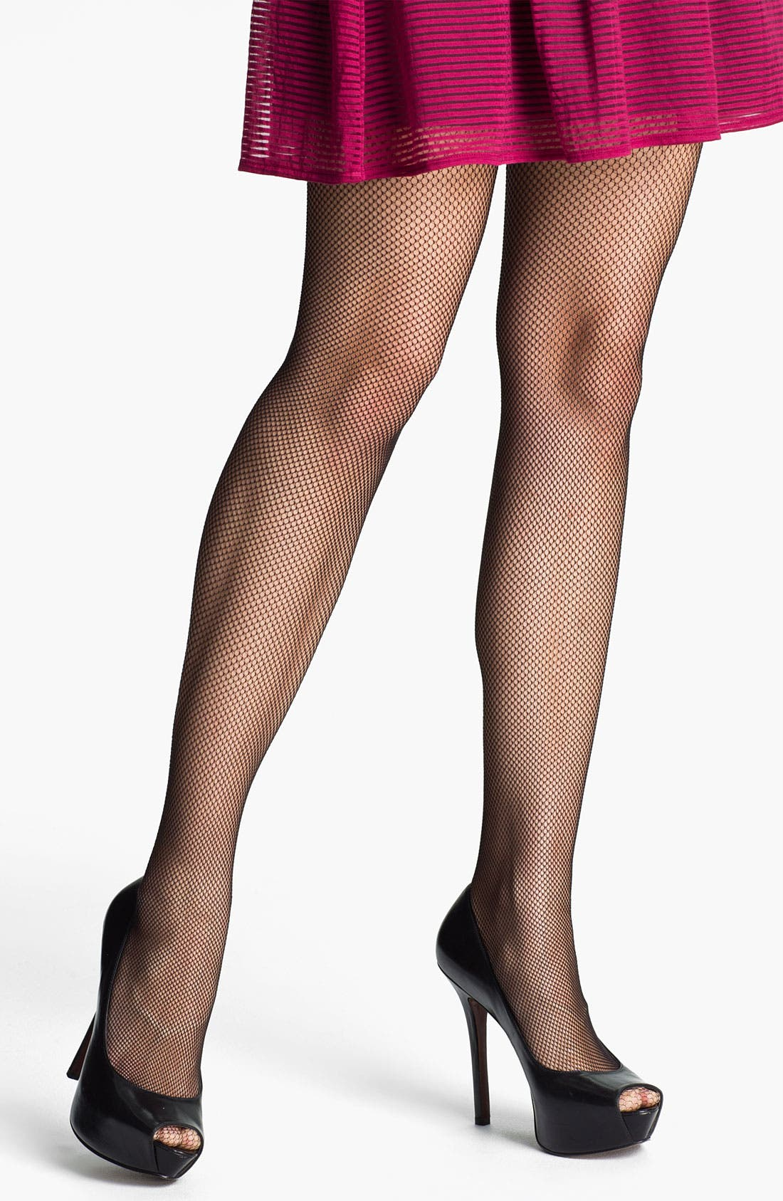 Alternate Image 2  - SPANX® 'Uptown Floral' Back Seam Fishnet Pantyhose