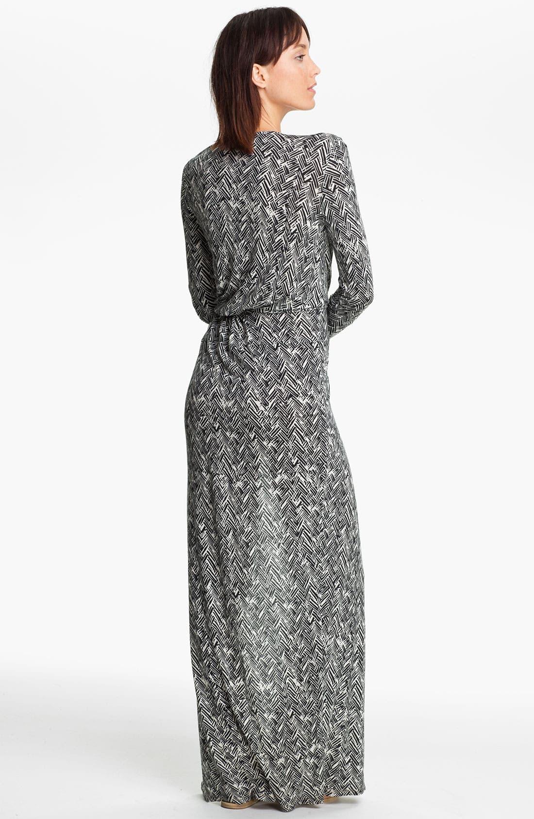 Alternate Image 2  - Thakoon Carbon Copy Basket Weave Print Maxi Dress