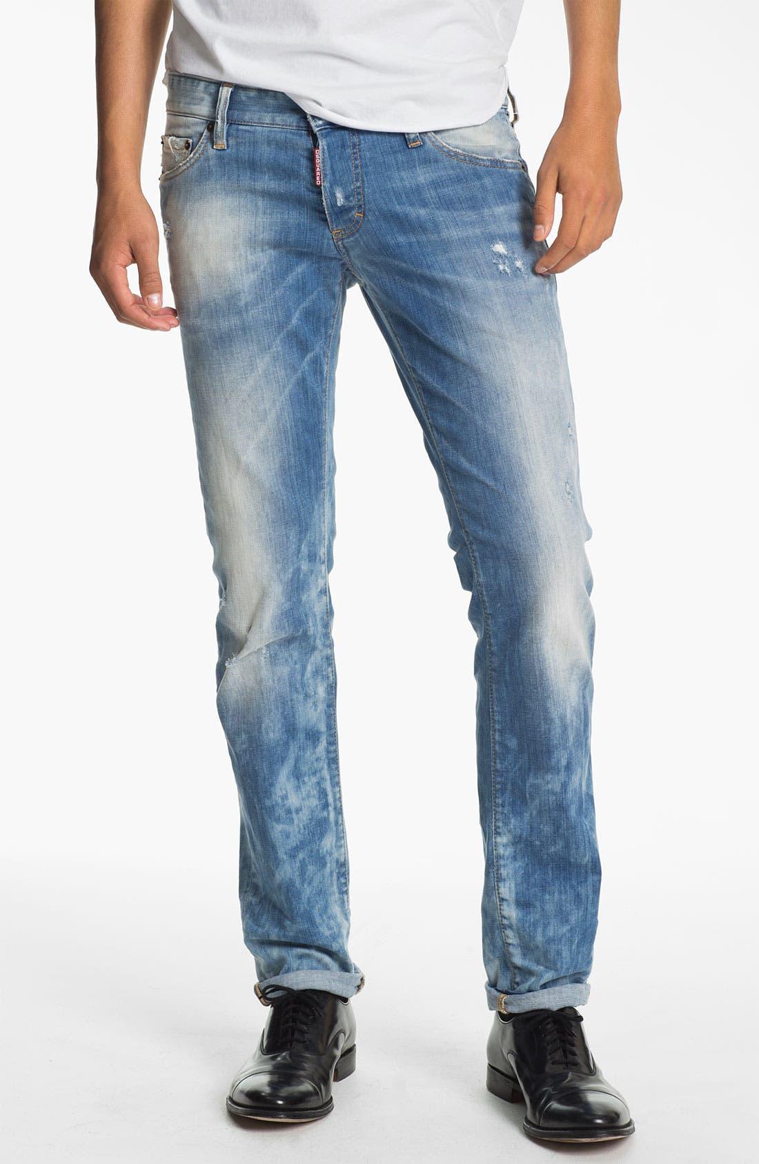 Main Image - Dsquared2 Slim Fit Jeans (Bleach Blue)