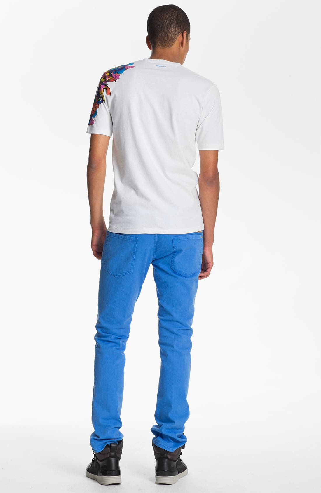 Alternate Image 6  - Dsquared2 Garment Dyed Slim Fit Jeans