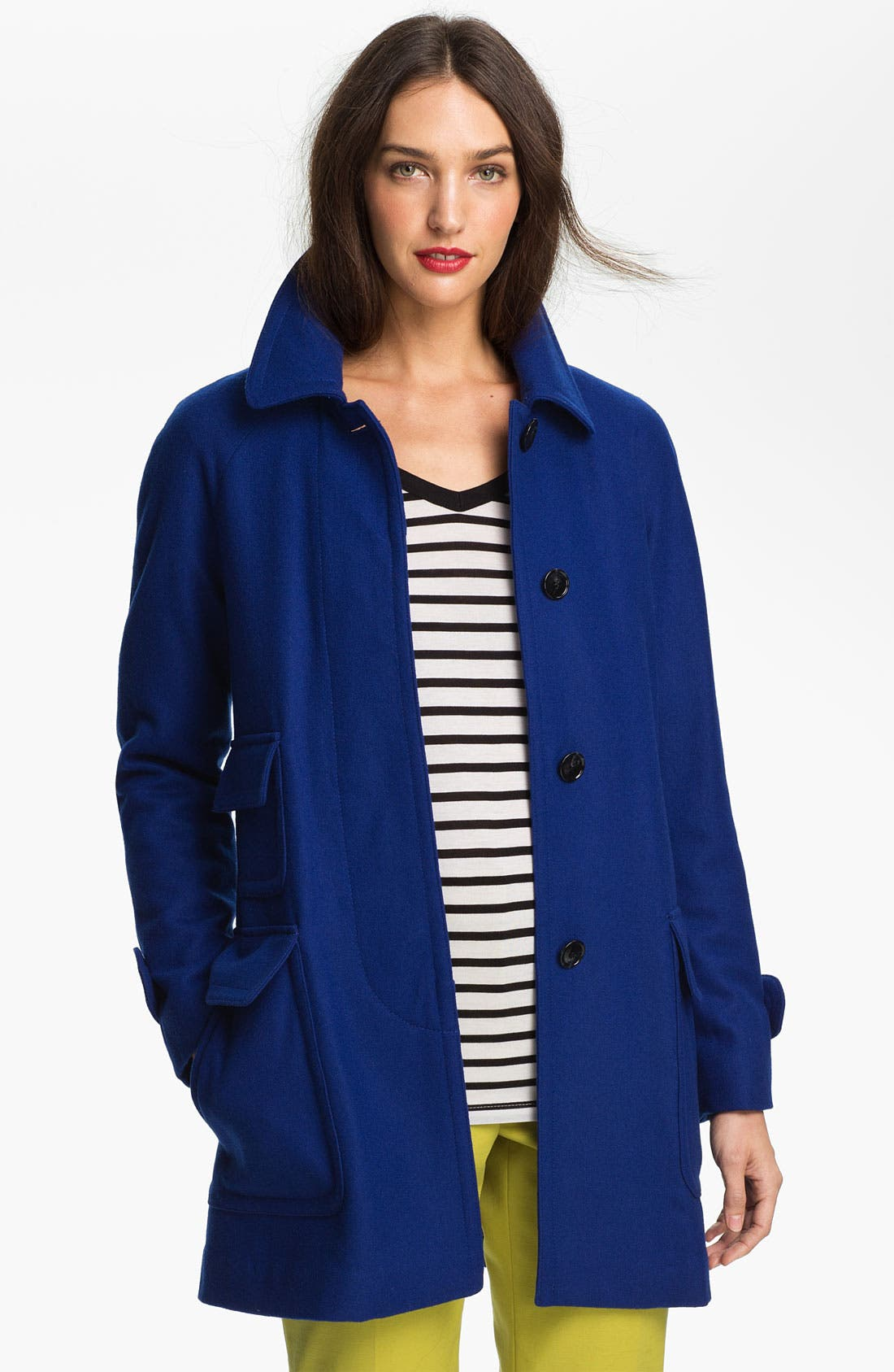 Alternate Image 1 Selected - Ellen Tracy Stadium Coat with Liner (Nordstrom Exclusive)
