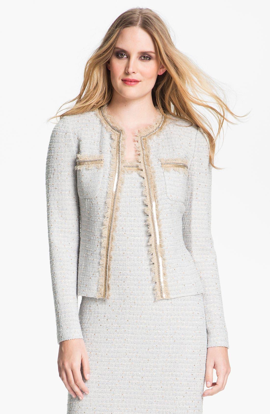 Alternate Image 2  - St. John Collection Sequin Ice Tweed Knit Jacket
