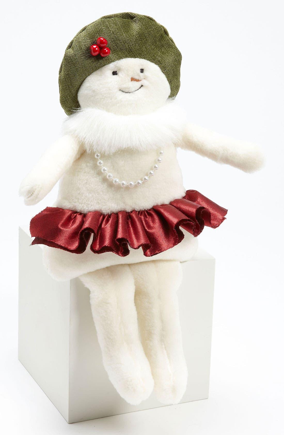 Alternate Image 1 Selected - Woof & Poof Small Snowgirl Bean Bag