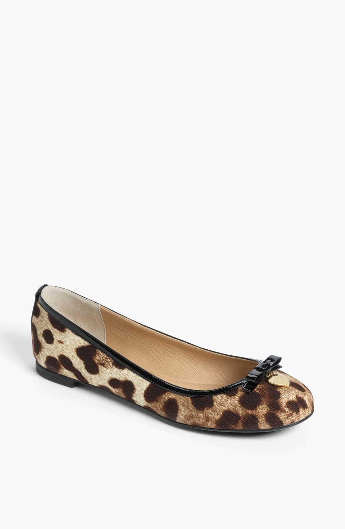 Alternate Image 1 Selected - Dolce&Gabbana Leopard Print Ballet Flat