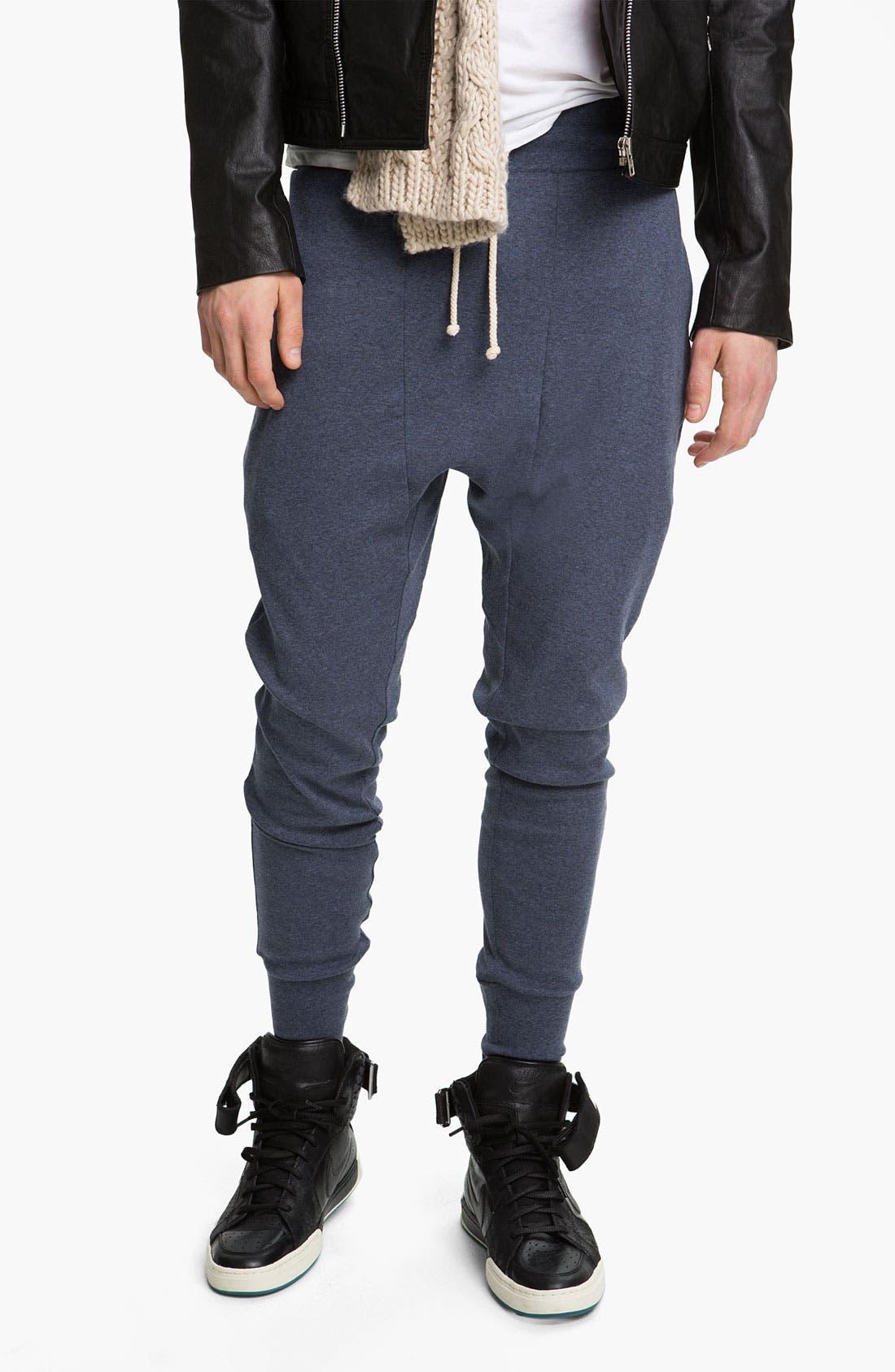 Main Image - Topman 'Zane' Heather Cotton Lounge Pants