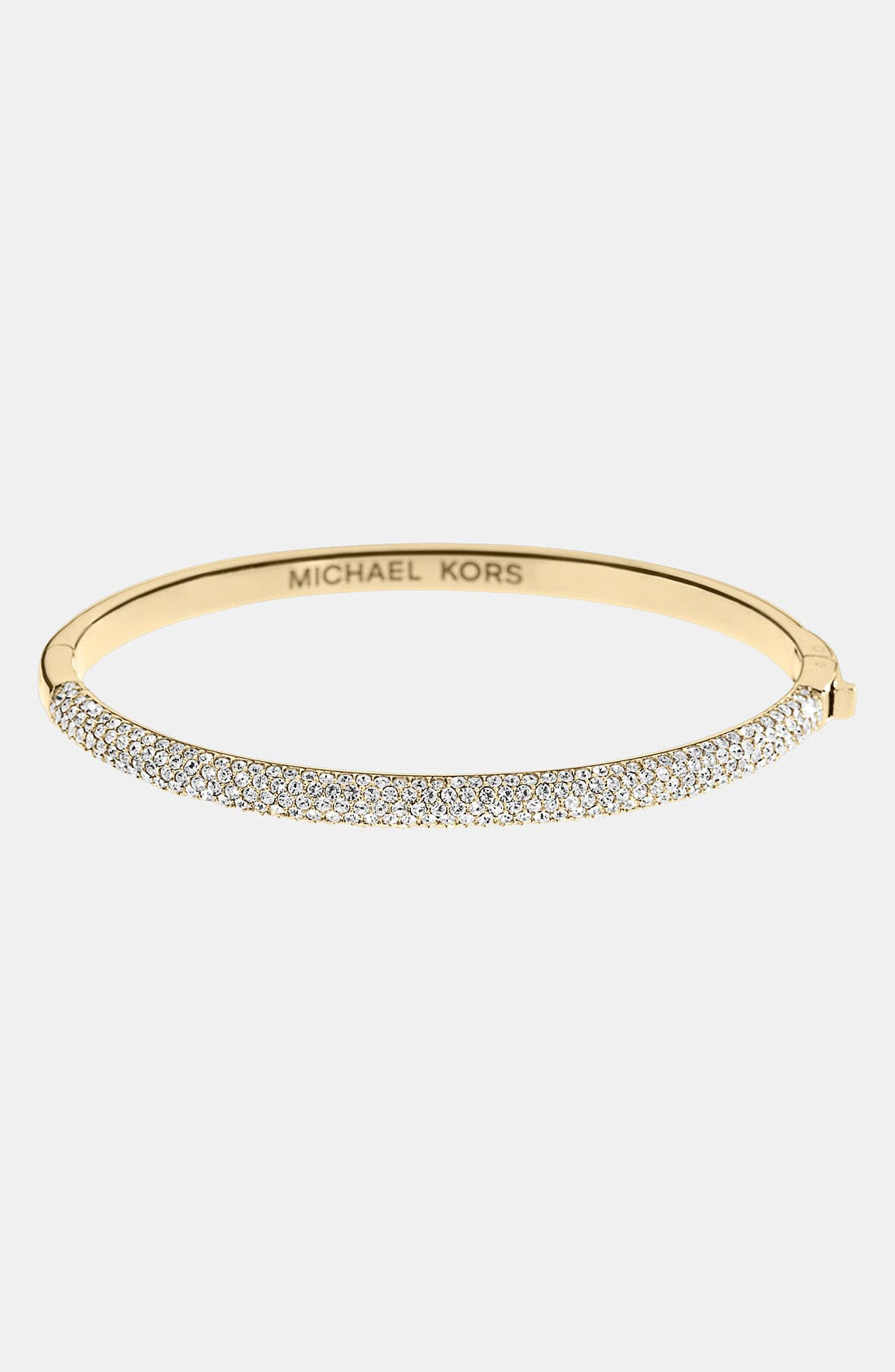 Main Image - Michael Kors 'Camille' Pavé Hinged Bangle