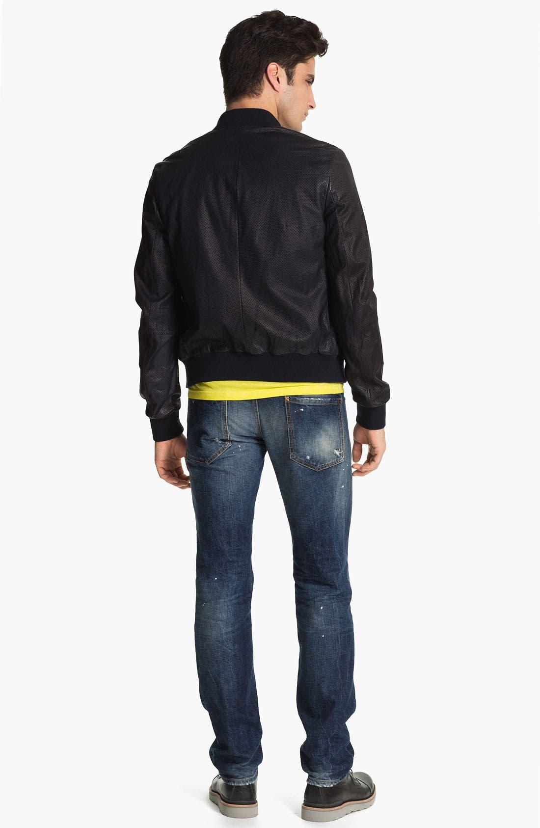 Alternate Image 5  - Dsquared2 Pierced Lamb Leather Jacket