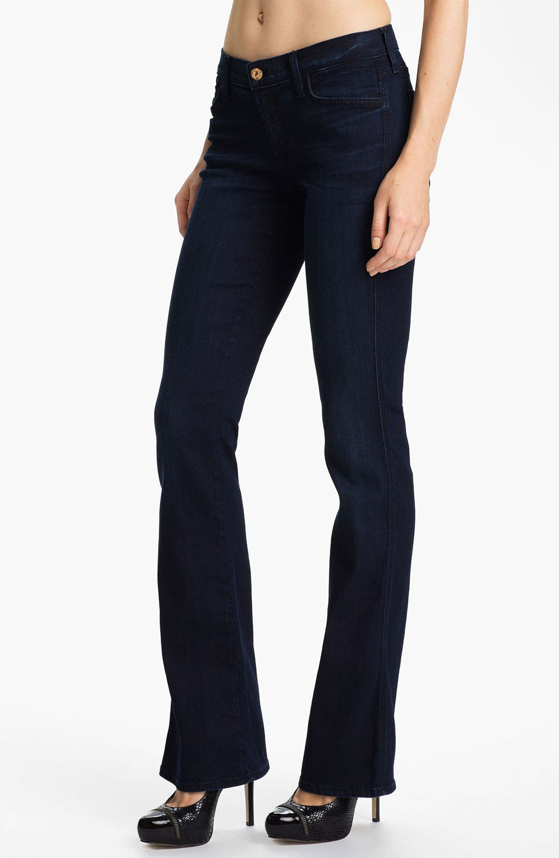 Alternate Image 1 Selected - 7 For All Mankind® Bootcut Stretch Jeans (Dusk Night Sky)