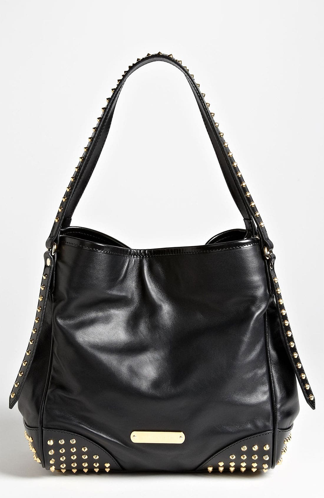 Alternate Image 1 Selected - Burberry 'Bridle Studs' Leather Tote