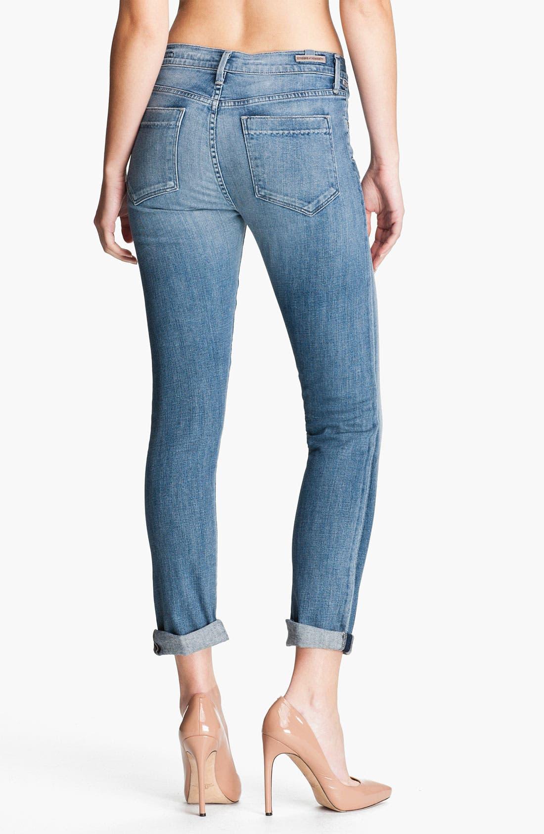 Alternate Image 2  - Citizens of Humanity 'Mandy' Slim Straight Leg Jeans (Crystal)